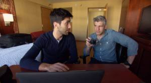 Hosts of Catfish learn the story of a new online drama