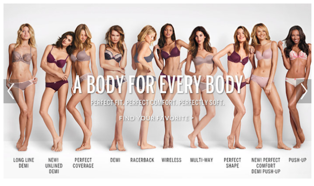 The second version of the campaign, released by Victoria's Secret earlier last week.