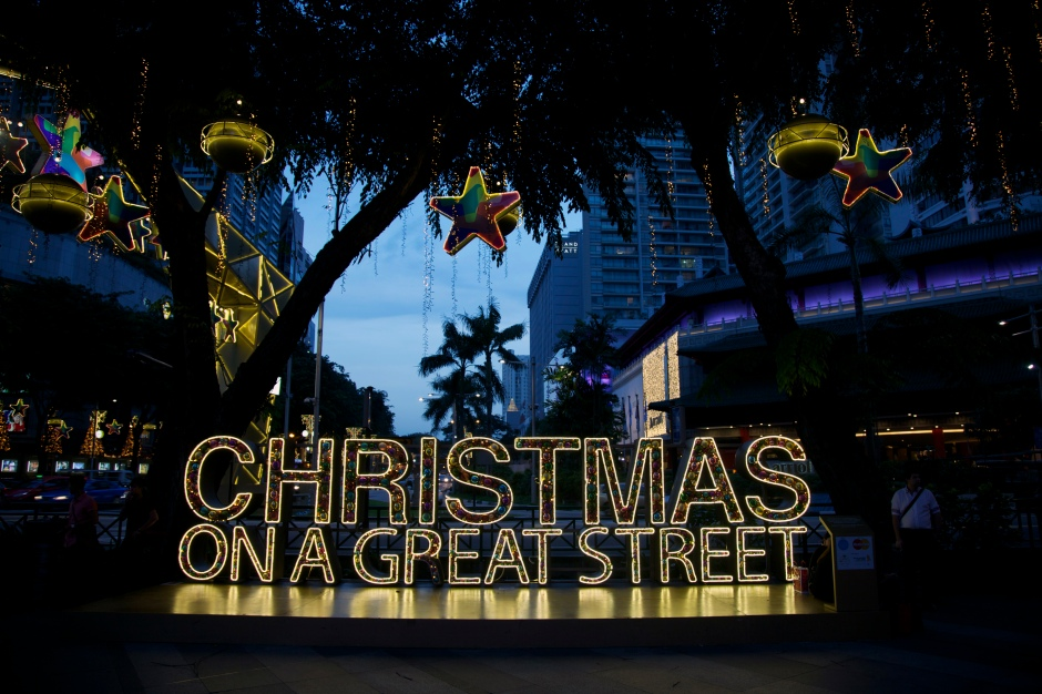 """Orchard Road Buisness Association brings the holiday spirit to Orchard Road through their annual set up called """"Christmas on a Great Street."""""""