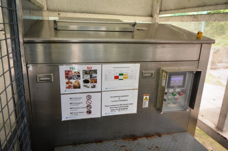 The Eco-Wiz Food Digester is efficient at converting food waste into water. Wong remarked that traces of grease are occasionally left behind, but for the most part, the machine is surprisingly low maintenance.