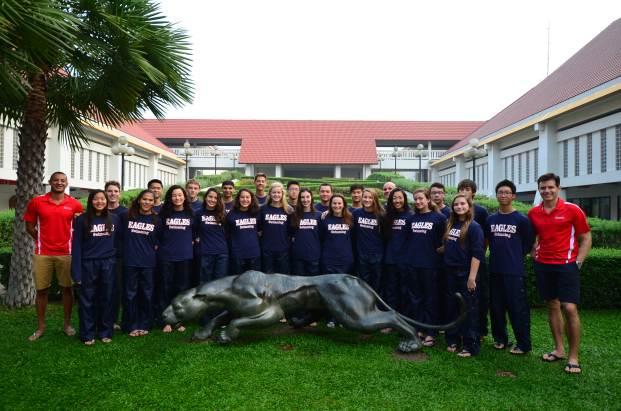 Boys and girls IASAS swim team.
