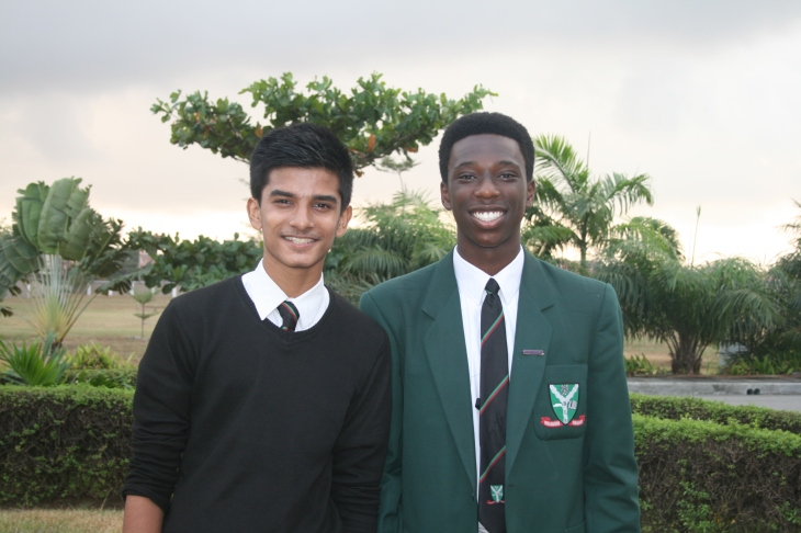 British International School of Lagos Nigeria students Sidhant Bindre (left) and Chike Onyia (right). Photo credits to Lucy Arole