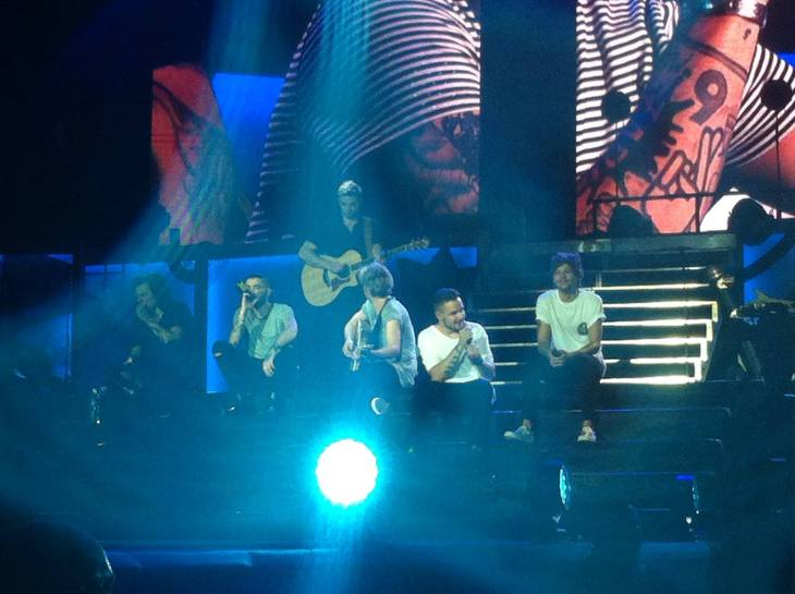 "The boys peforming ""Little Things"". Photo contributed by Nikki Arbis"