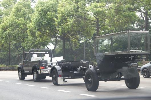 Singapore Armed Forces preparing Mr. Lee's glass casket. Photo by Gabriel Goh