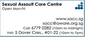 The contact information of the Sexual Assault Care Center. Taken from the Aware website.