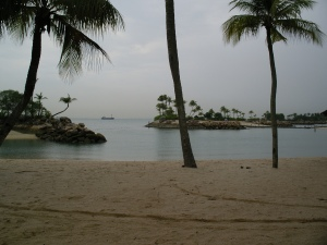 Sentosa Beach in Singapore. Photos contributed by Creative Commons.