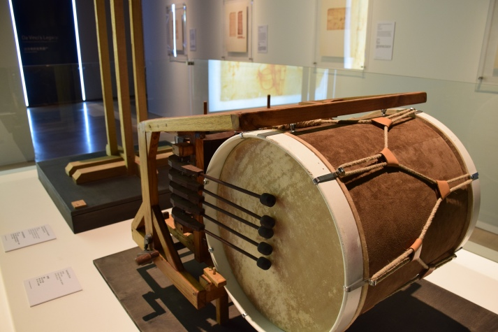 Musical instrument invented by da Vinci. Photo by Anna Sorokina