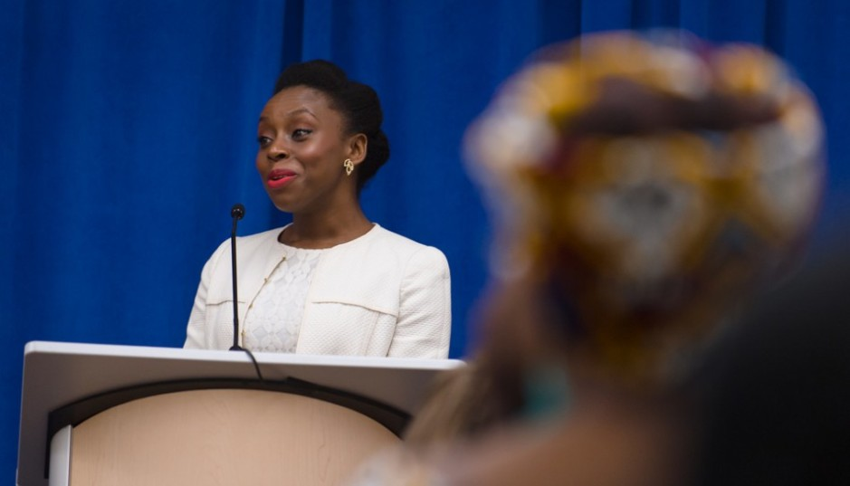 Author Chimamanda Ngozi Adichie at the Howard County Library System's Miller Branch. Image – Creative Commons License.