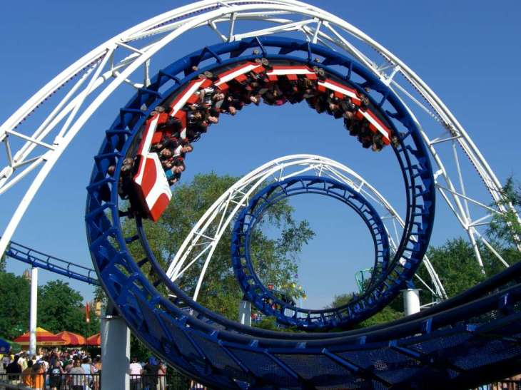 The Corkscrew is a rollercoaster at Cedar Point. Photo courtesy of Creative Commons.