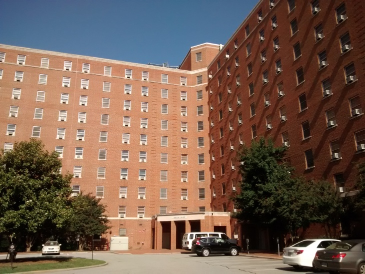 Hinton Hall residence dorm at the University of North Carolina Chapel Hill. Photo courtesy of Creative Commons.