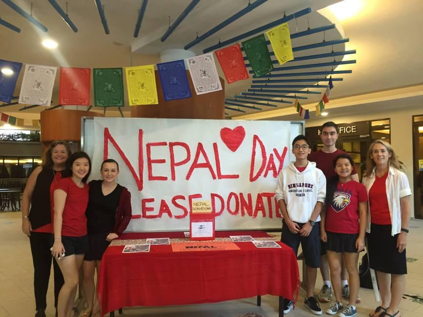 ESC setting up the school wide fundraiser.