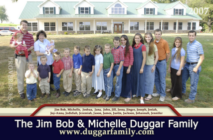 Photo of the Duggar family (when it was just 17 of them) from Jim Duggar.