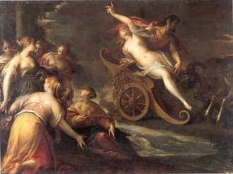 A painting of the Rape of Proserpina (a character in Metamorphoses) by Hans von Aachen