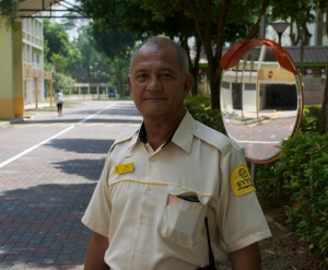 SAS security guard Azman Abdullah. Photo by Ana Chavez