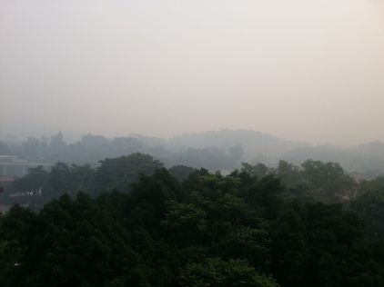 Effects of the haze in Singapore. Creative Commons license