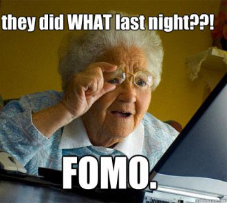 Fomo for online dating