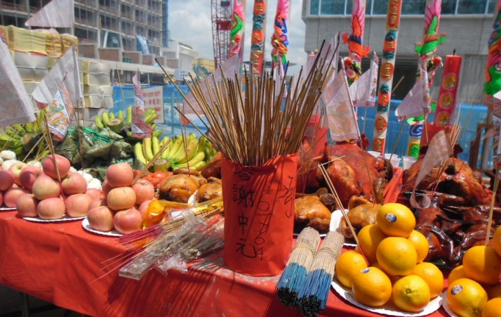 Offerings for the hungry ghosts. Creative Commons license