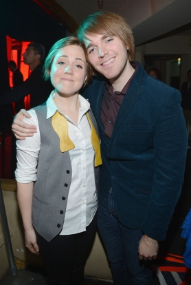 Hannah Hart (left), Shane Dawson (right), Both YouTubers who came out through YouTube, Taken by Michael Buckner