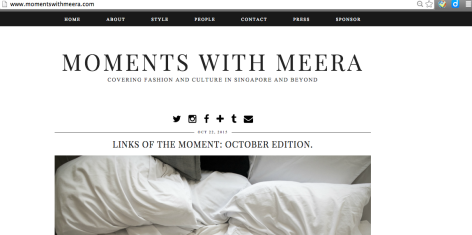 The front page of MomentswithMeera