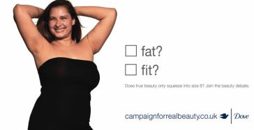 Dove campaign for real beauty.