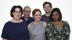 "From left, actors Phyllis Smith, Lewis Black, Amy Poehler, Bill Hader and Mindy Kaling pose for a portrait in promotion the new Disney-Pixar animated feature film, ""Inside Out"". Photo by Rebecca Cabage/Invision/AP"