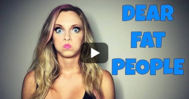 Nicole Arbour's fat shaming video. Screen capture from YouTube
