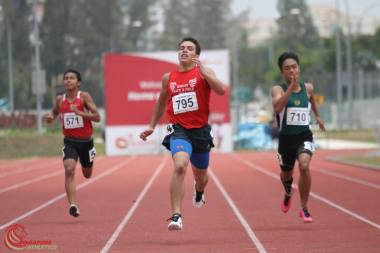 Robert Moritz at the 41st S'pore Youth & Jr. Athletics Championships 2015. Photo Credit Singapore Athletics.