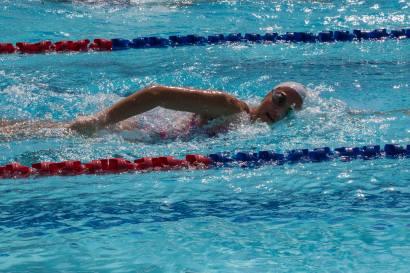 Kaitlyn swimming Freestlye at IASAS in Manilla. Photo Credit Kerstin Hagemeister.