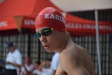 SAS junior swimmer Patrick Koopmans. Photo by Rosie Hogan.