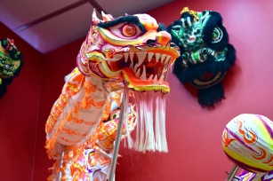 Dragons, symbolizing good luck, long life, and wisdom, often displayed during this festive time.
