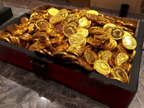 "Chocolate gold ""coins."""