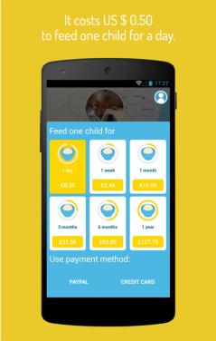 Courtesy of ShareTheMeal app at Google Play