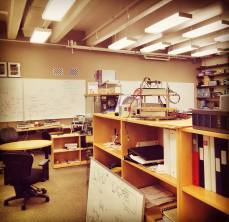 Lab space and work area for aero-astro majors at Stanford University. Photo by Kartikye Mittal.