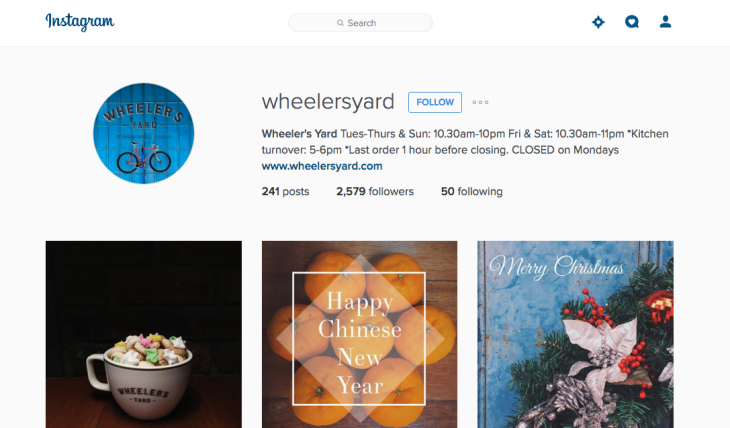 Instagram photo of Wheeler's Yard restaurant.
