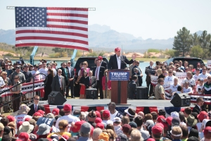 The crowds Trump draws - Creative Commons license