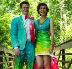 First place in the Duct tape suit and dress contest. From stuckatprom.com