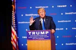 Donald Trump speaking - Creative Commons license