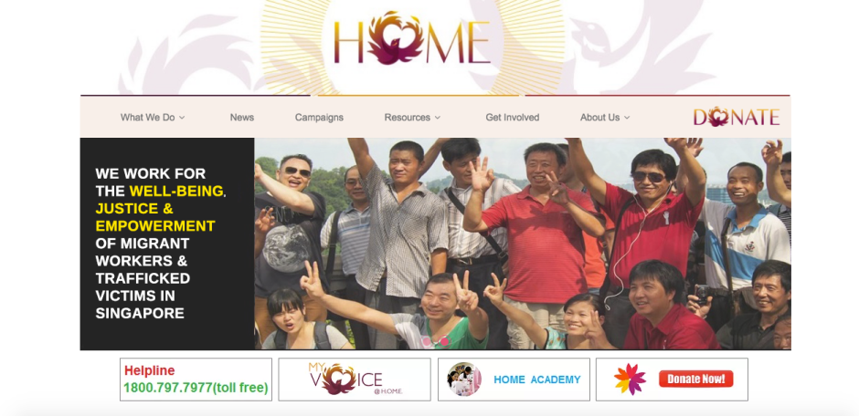 If one would like to help  the organization, one way to do so would be to donate money through their website www.home.org.sg (Photo credits: Screenshot from their website)
