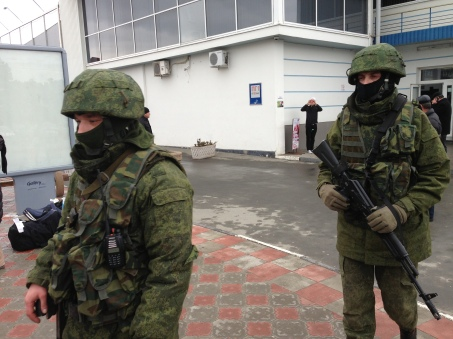 "Russian troops also known as ""Little Green Men"" in Crimea - Creative Commons License"