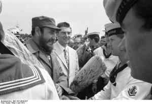 Fidel Castro meets German Navy men - Creative Commons License