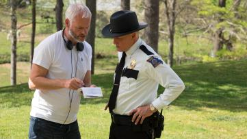 Martin McDonagh directs Woody Harrelson in Three Billboards outside Ebbing, Missouri