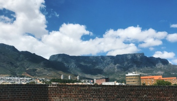 The view of Table Mountain from the Castle of Good Hope, Jan 2018.