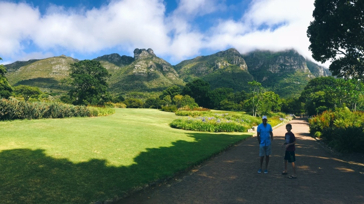 My Dad and brother at Kirstenbosch National Garden, Jan 2018.
