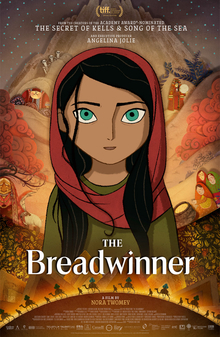 The Breadwinner is about a young girl in Taliban controlled Afghanistan working to feed her family by pretending to be a boy