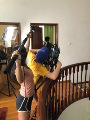 Cinematographers and Boom Operators work closely together to capture film and sound simultaneously.