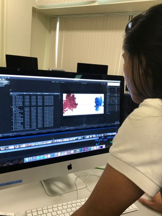 Regina Bernardo completes the finishing touches of her film 'Match'.