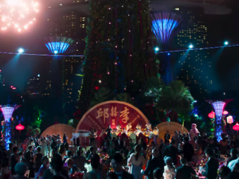 This Gardens by the Bay party scene in Crazy Rich Asians would be extremely hard to find in real life. Source: timeout.com