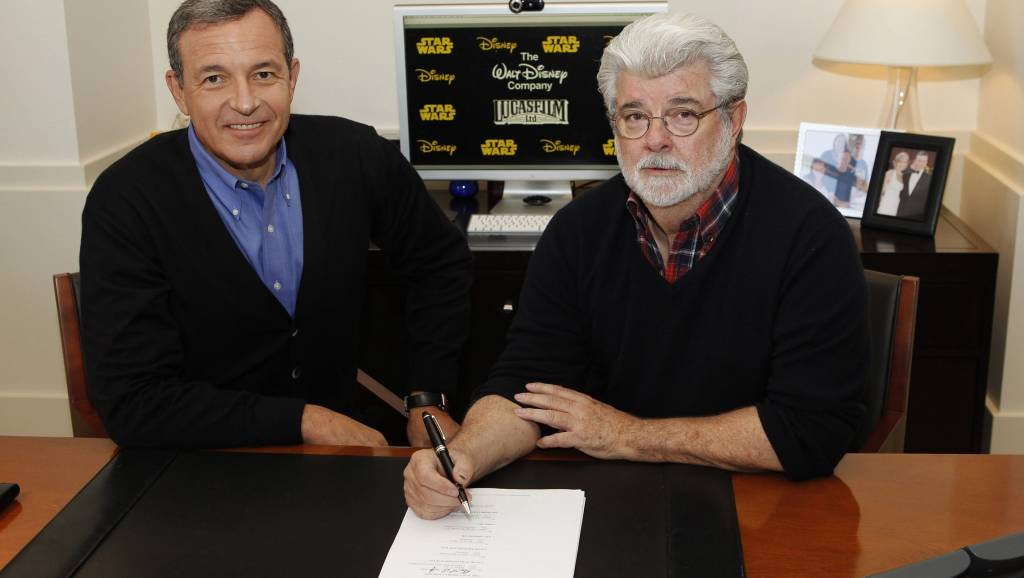 Image result for george lucas and bob iger